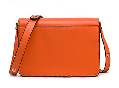 Actlure Women Purse Orange Cowhide body Split Cross Leather Trunk Bag ZPqZwd