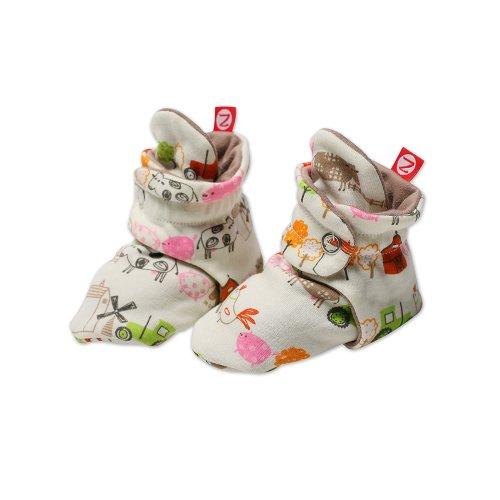 Zutano Baby-Girls Newborn Little Farm Organic Bootie
