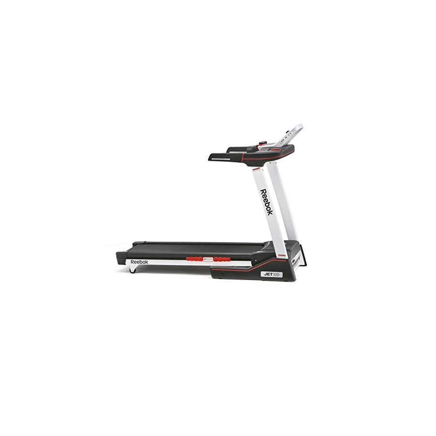 Reebok Jet 100 Folding 10 MPH Treadmill with 12 Incline Levels (Without Equipment Mat) / Treadmill and Equipment Mat Set