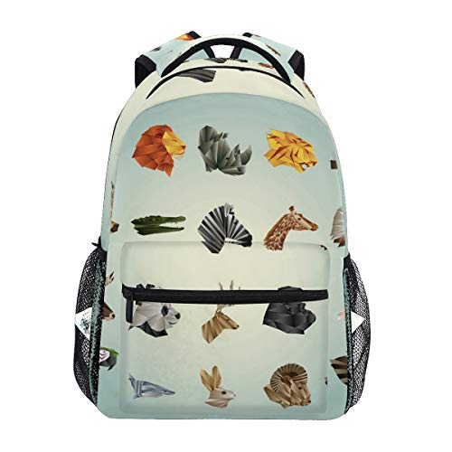 Women/Man Canvas Backpack Special Collection Of Faceted Animals Zipper College School Bookbag Daypack Travel Rucksack Gym Bag For Youth (Best Itunes Gift Card Offers)