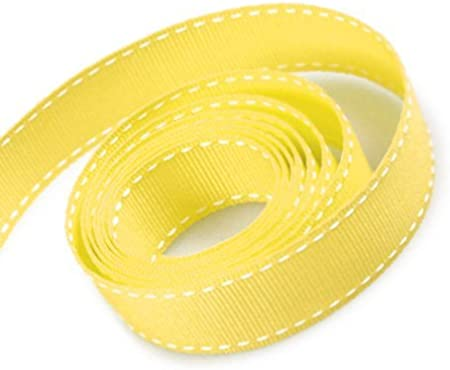 Buttercup Yellow skinny stitched ribbon