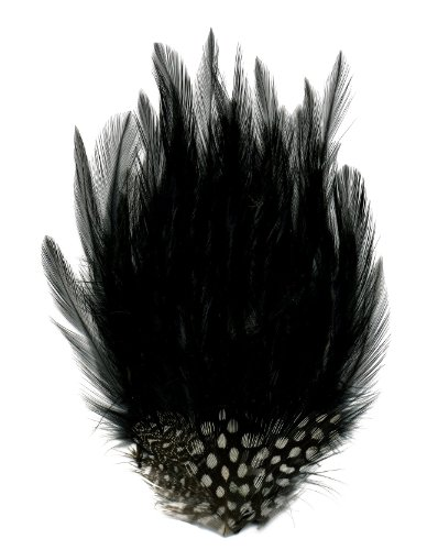 Zucker Feather (TM) - Hackle-Guinea Small Feather Pad - Black Natural