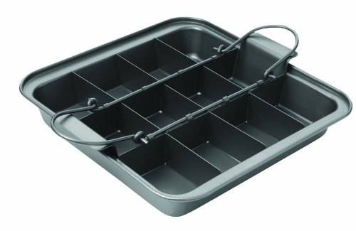 Chicago Metallic Slice Solutions Brownie Pan, 9-Inch-by-9-Inch -