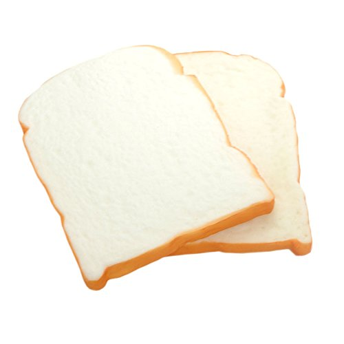 Pursuestar 2 Pack Jumbo Squishy Toast Slice Bread Hand Pad Kids Toy Stress Relief Home Office Decoration ()