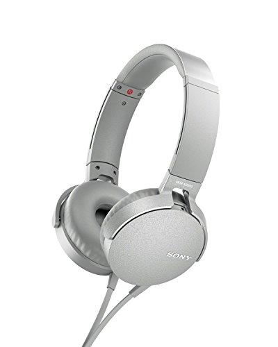 Sony On Ear Extra Bass Headphone, White MDRXB550AP W