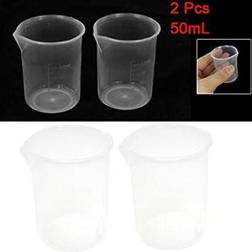 Amazon.com: Vaso medidor de plástico – 2 piezas de 50 ml ...