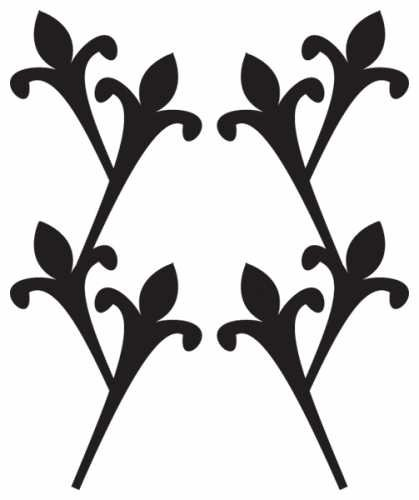 (Jo-Ann Fabric and Craft Stores Jeaneology Iron-Ons-Climbing Fleur De Lis Flock)