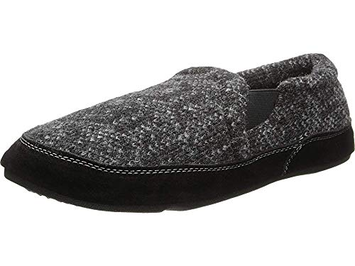 Acorn Mens Fave Gore Slipper (Large / 10.5-11.5 M US, Charcoal Tweed)
