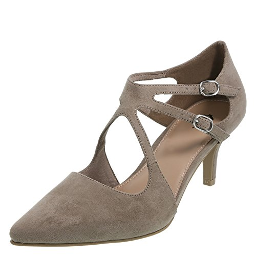 5d182a3220d Fioni Taupe Women s Kwency Pointed-Toe Pump 5 Regular