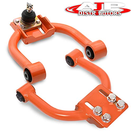 Ajp Distributors Jdm Tubular Adjustable Front Upper Camber Kit Orange For Honda Civic Ek