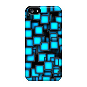 For Iphone 5/5s Premium Cases Covers Blue Cubes Protective Cases