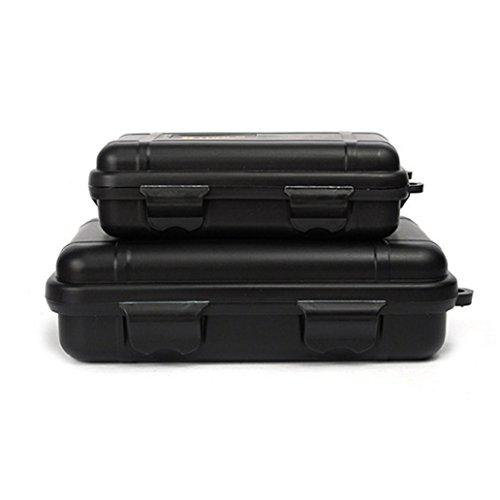 Binmer(TM) Outdoor Waterproof And Shockproof Storage Box Sealed Container Box (black)