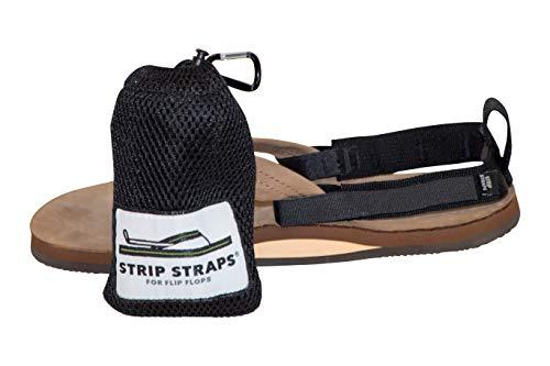 Strip Straps: Ankle Straps for Flip Flops (Shorts, Black)