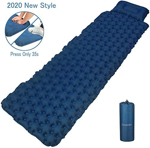 Loowoko Camping Sleeping Pad Bags Inflatable Air Mattress Ultralight Portable Inflating Sleep Mat for Outdoor Hiking Backpacking Traveling Tent
