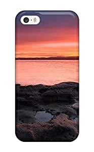 For Iphone 5/5s Fashion Design Landscape Photography Colors Ocean Skyline Sunset Shoreline R People Photography Case-APOfXIw210hFPWH