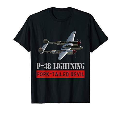 P-38 Lightning War bird, The fork tailed Devil t-shirt