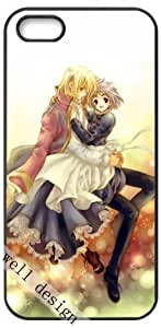 Howl's Moving Castle Oscar Cartoon movie HD image case cover for iphone 5 5S black A Nice Present