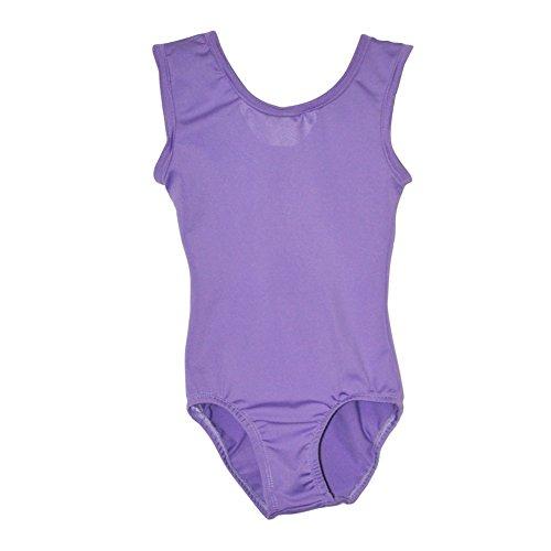 Big Girls Lavender Full Front Lining Tank Dancewear Leotard 14