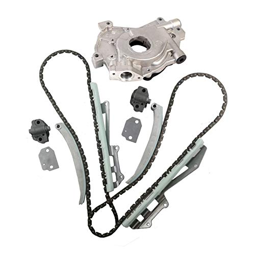 MOCA Timing Chain Kit with Oil Pump for 1997-2004 Ford E-150 & Econoline Club Wagon & Ford Explorer & Expedition Mustang & F150 4.6L V8 SOHC