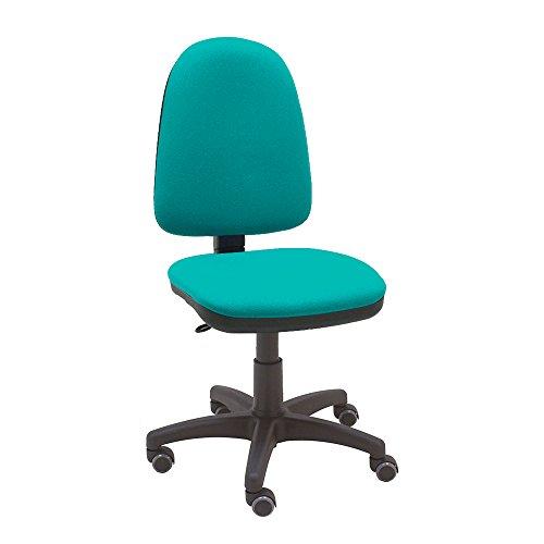 La Silla de Claudia - Silla giratoria de escritorio Torino turquesa para oficinas y hogares ergonomica con ruedas de parquet