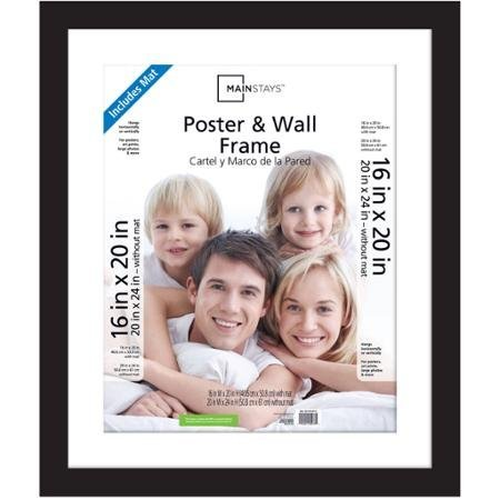 Mainstays Decor` Classic Style 20x24 Matted to 16x20 Wide Gallery Poster and Picture Frame, Black (1) by Mainstays Decor`
