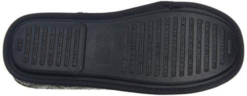 New Look Knitted Slipper, Zapatillas de Estar por Casa para Hombre gris oscuro