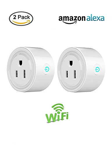 All Star Smart Plug, 2 Pack Wireless Wi-Fi Remote Outlet Works with Alexa, No Hub Required, Timing Function, Outlet Remote Control Home Electronics Anywhere for iPhone IOS Android devices, White
