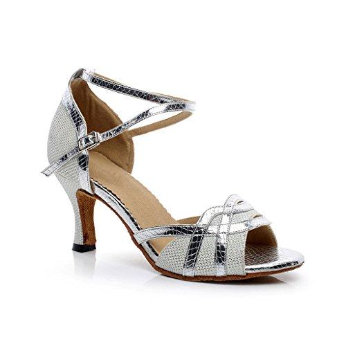 Misu Zapatillas de Danza Para Mujer Blanco Blanco, Color Blanco, Talla 37