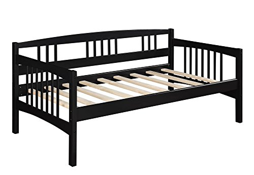 Dorel Living Kayden Daybed Solid Wood, Twin, Espresso