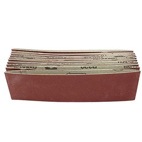 uxcell 3-Inch x 18-Inch 320 Grit Lapped Butt Joint Aluminum Oxide Sanding Belt 10pcs (3x18 Sandpaper)