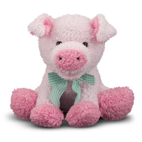 Melissa & Doug Meadow Medley Piggy Stuffed Animal - 9 - Pink