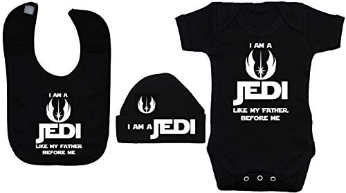 berretto A Jedi Am da Like Me Baby 12 Before My pagliaccetto berretto nero mesi I bavaglino e Father a Body 0 qOfBwx5