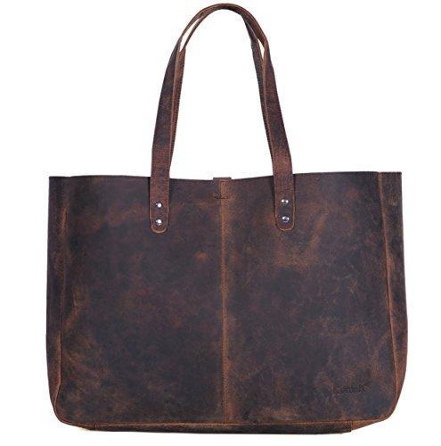 7e630fd38f91 Komalc Genuine Soft Buffalo Leather Tote Bag Elegant Shopper Shoulder  BagSALE