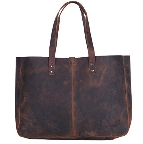 Komalc Genuine Soft Buffalo Leather Tote Bag Elegant Shopper Shoulder BagSALE ()