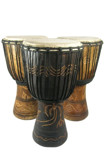 Hand-carved-Djembe-Drum-From-Africa-13×24-Drum-Circle-Village