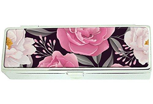 Color beautiful peony Custom Lipstick Box Frame Rectangle Velvet Cosmetic Lipstick Case Makeup Box Jewelry Box (Custom Lipstick Color)