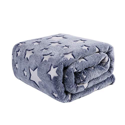 (HYSEAS Luminous Velvet Plush Throw, Super Soft Star Pattern Throw Blanket, 50