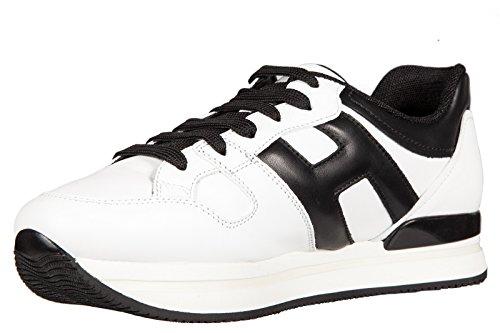 Hogan scarpe sneakers donna in pelle nuove h222 sportivo xl h grande bianco