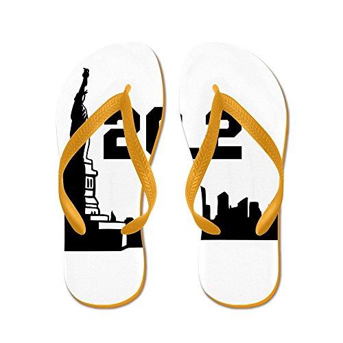 Cafepress New York Maraton 26,2 - Flip Flops, Roliga Rem Sandaler, Strand Sandaler Apelsin