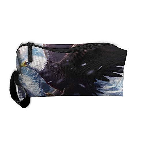 Jessent Coin Pouch Cool Eagle Pen Holder Clutch Wristlet Wallets Purse Portable Storage Case Cosmetic Bags Zipper