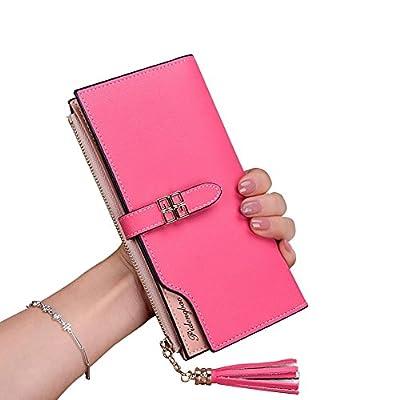 TJEtrade Women's Wallets Leather Bifold Luxury Clutch Card Holder Large Capacity