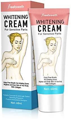 Whitening Cream, Skin Lightening Cream For Armpit, Knees & Sensitive Parts Deodorant – 100% Safe Formula – Whitening Uneven Colors Tone – Smooth & Moisturizing – For All Skin Types