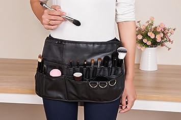 Amazon.com   Joyful Professional Cosmetic Makeup Brush Pu Apron Bag Artist  Belt Strap Protable Make up Bag Holder   Beauty 88b7d9cbfebbc
