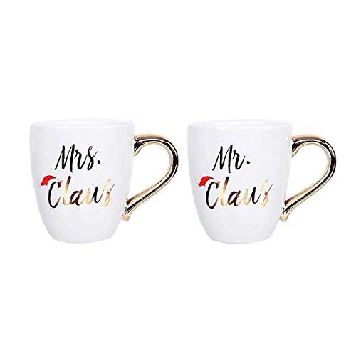 DEI Mr. & Mrs. Claus Metallic Mug Set