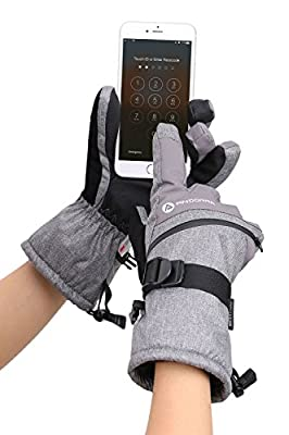 Livingston Men's C-100 Touchscreen Winter Sports Ski Gloves w/Zipper Pocket