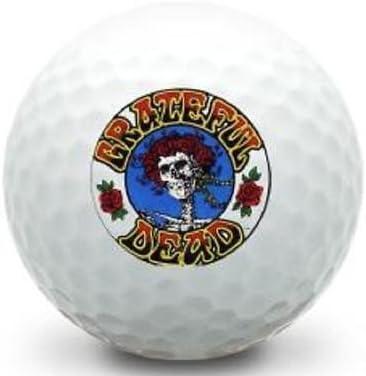 Taylor Made 1 Dozen Grateful Dead Roses Logo Tour Preferred Golf Balls