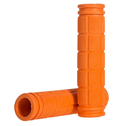 Grip Handlebar End (Vktech® Soft BMX MTB Cycle Road Mountain Bicycle Scooter Bike Handle bar Rubber End Grip (Orange))