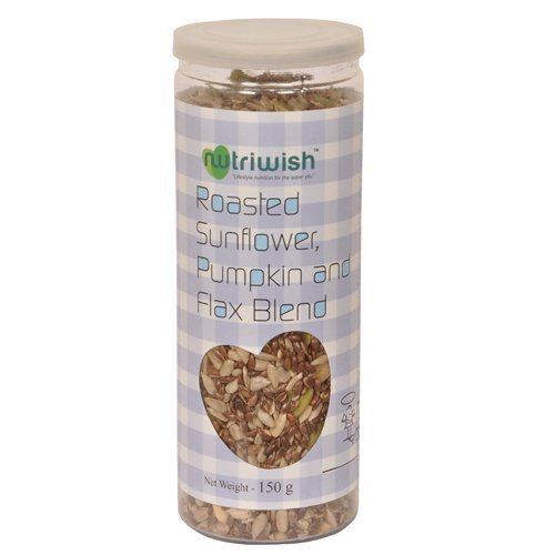 Nutriwish Roasted Sunflower, Pumpkin And Flax Seed Blend 150g (Healthy On-The-Go Snack)