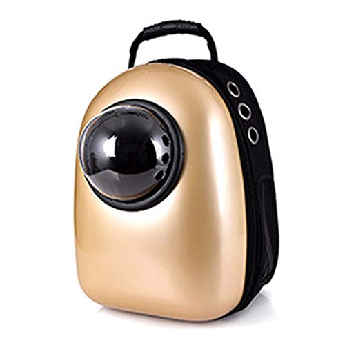 - Lielisks Pet Carrier Backpack Portable Travel Space Capsule Breathable Waterproof Handbag Cat Puppy Khaki DG0955 32L 12.60