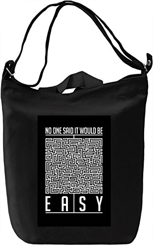 Not easy Borsa Giornaliera Canvas Canvas Day Bag| 100% Premium Cotton Canvas| DTG Printing|